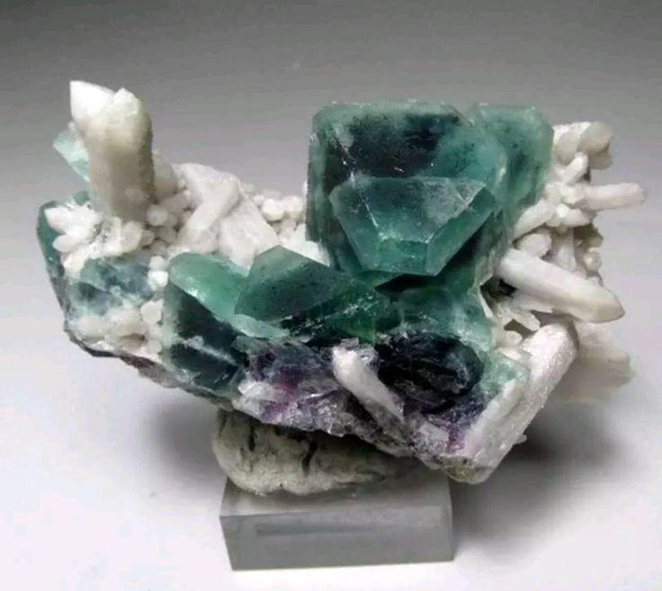Fluorite w/ Milky Quartz -- Huanggang,Inner Mongolia,China