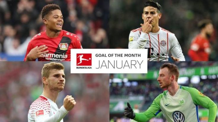James Rodriguez, Leon Bailey, Maximilian Arnold or someone else? Vote NOW for your January Bundesliga Goal of the Month!: The Bundesliga…