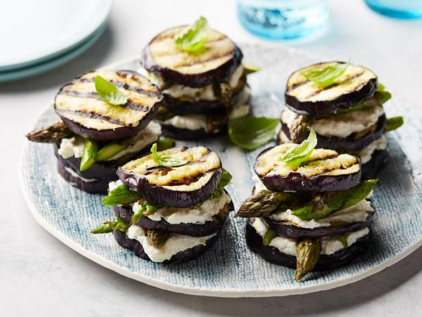 Get Eggplant and Asparagus Napoleons Recipe from Food Network