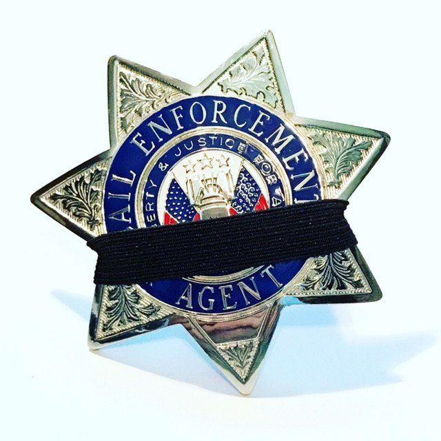 Bail Enforcement Agent Badge 7-Point Memorial Badge Sil-Tone