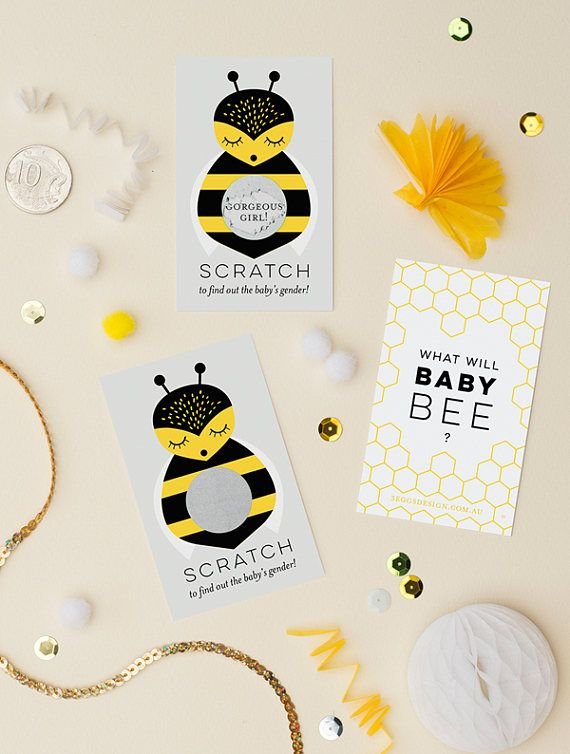 24 Gender Reveal Scratch Off Cards  What Will Baby Bee