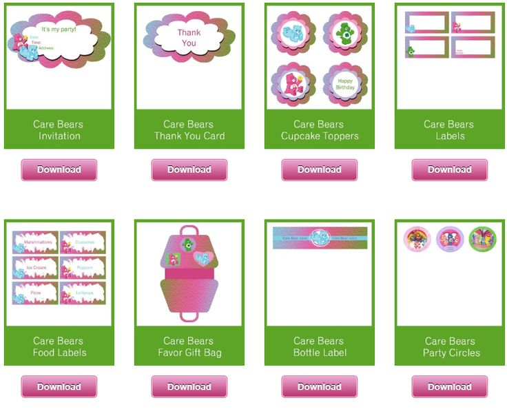 308 Best Images About Care Bears Printables On Pinterest