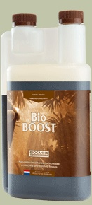 BioCanna Bio Boost BioBOOST is a yield-increasing agent for all cultivation systems and can be applied in combination with all of CANNA's nutritional lines and additives. BioBOOST is not a nutrient, but a natural fermented plant extract with bloom-stimulating characteristics that are also responsible for a fuller flavor. #canadianwholesalehydroponics