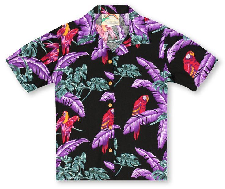 Paradise Found Ladies Hawaiian Shirts From Aloha Shirt Shop | Paradise Found Ladies Night Jungle* | PFL-10