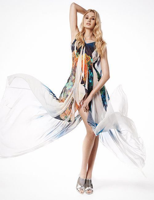 SANGO Coral Print Dress