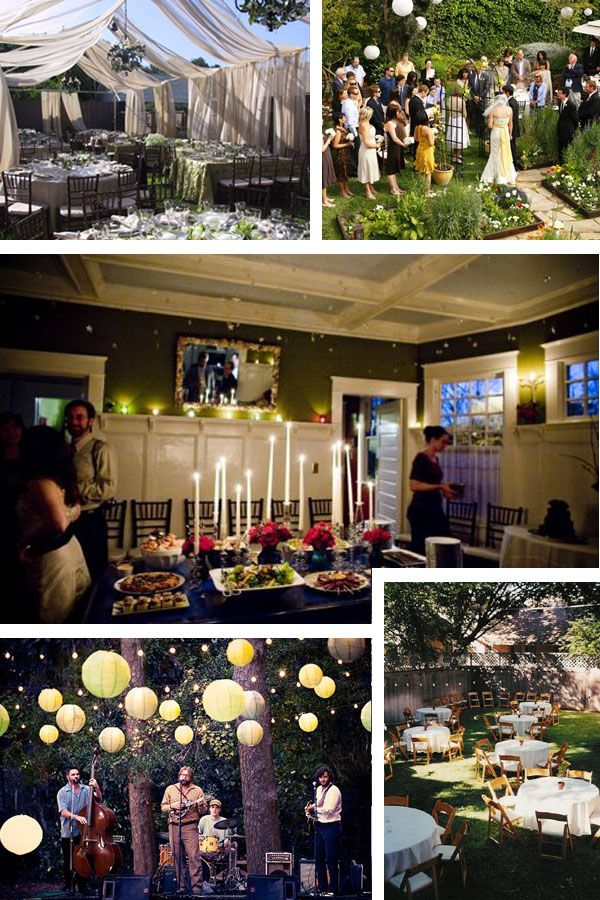 25 best ideas about home wedding receptions on pinterest for Home wedding reception decorations