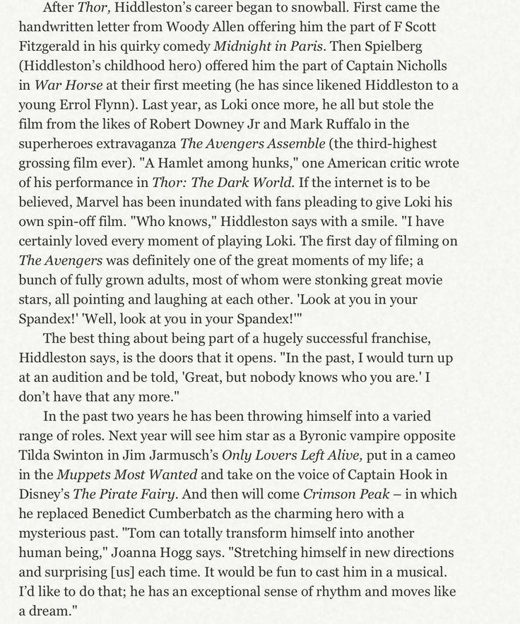 Tom Hiddleston - Captain Marvel - Telegraph Magazine Jan 11, 2014 (part 8/9) *source: http://torrilla.tumblr.com/post/72956029659/tom-hiddleston-captain-marvel-telegraph