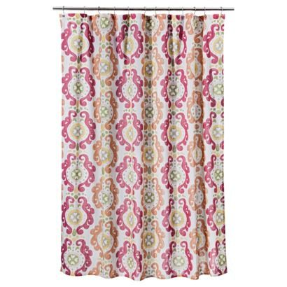 "Threshold™ Scroll Shower Curtain - Pink. The ""pink"" is much more orange in color and will go great with my Blood Orange bath mat and towels!"