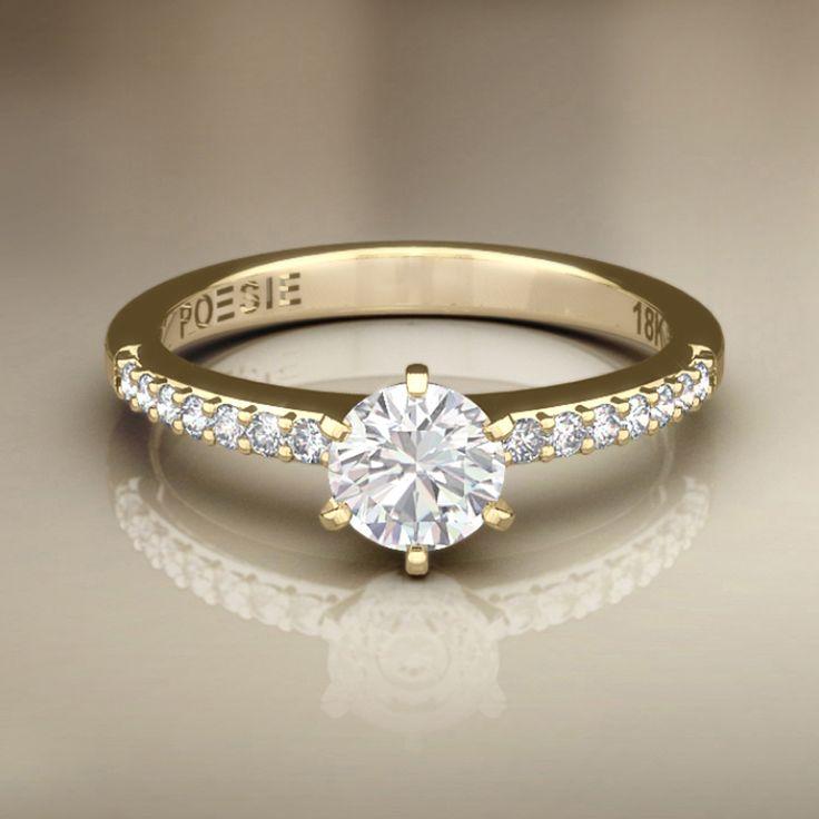 Nos EUA, é regra! No México e em outros países também! No Brasil, muitas adoram! Amo a ideia de anéis de brilhantes para noivado. Solitários são tudo de bom!