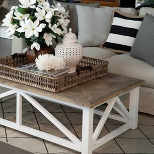 What is on your coffee table? For us it's beautiful design books, stunning flowers, candles & treasures #alfrescoemporium #islandemporium #coffeetable