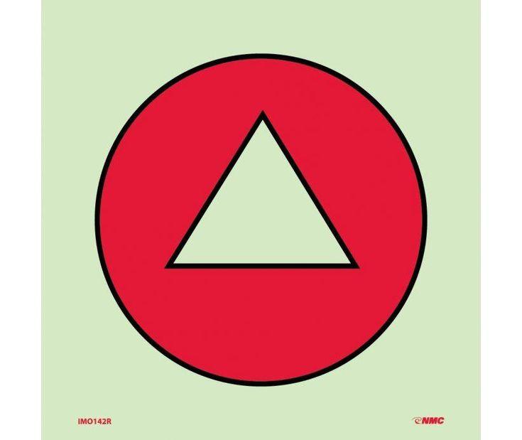 IMO, Symbol, GAS DETECTOR, 6X6, Glow Vinyl LAMINATED