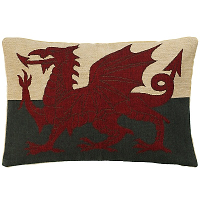 Hampton Welsh Dragon Cushion, Green.