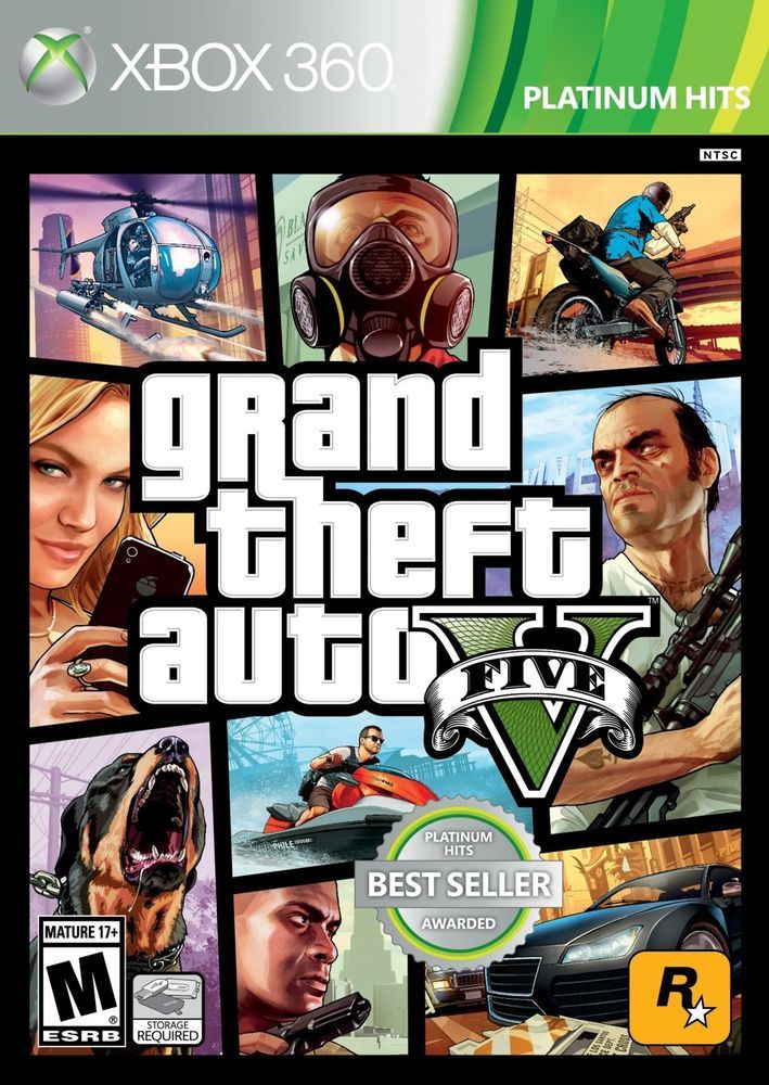 Grand Theft Auto 5 GTA V for Xbox 360 Console NEW Sealed In Box FREE SHIPPING!!! #Unknown