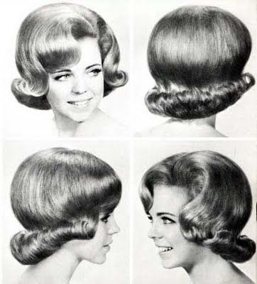 """Hair in the sixties.  This one is the """"flip"""" or page girl, the Page boy was when the curl was turned under.  you can see them both on reruns of the Patty Duke show."""