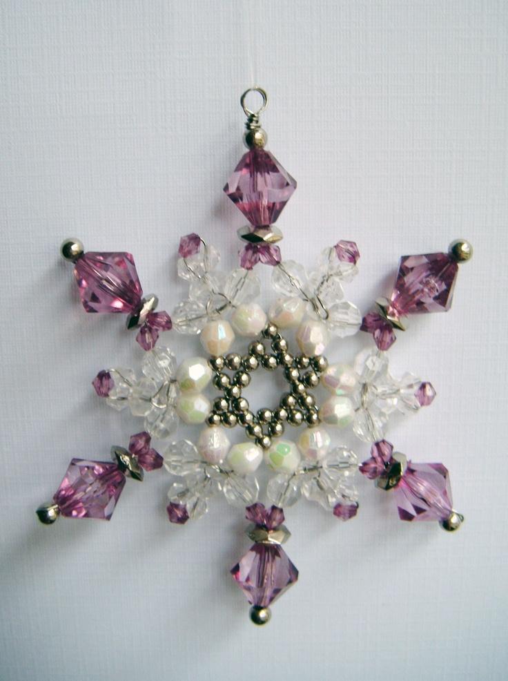 beaded snowflake christmas ornaments by greihaven.bigcartel.com