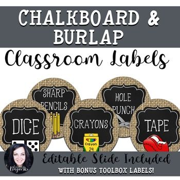 Looking labels to complement a rustic or coffee shop themed classroom?  Look no further!  Create an organized classroom with this trendy set of labels. Set includes:Math Manipulative LabelsClassroom Supply LabelsBonus- Teacher toolbox labels (for Home Depot style plastic storage cabinet)Each type of label also has editable sheets for you to customize to your needs!NOTE:  For best quality when printing use media- photo settings.