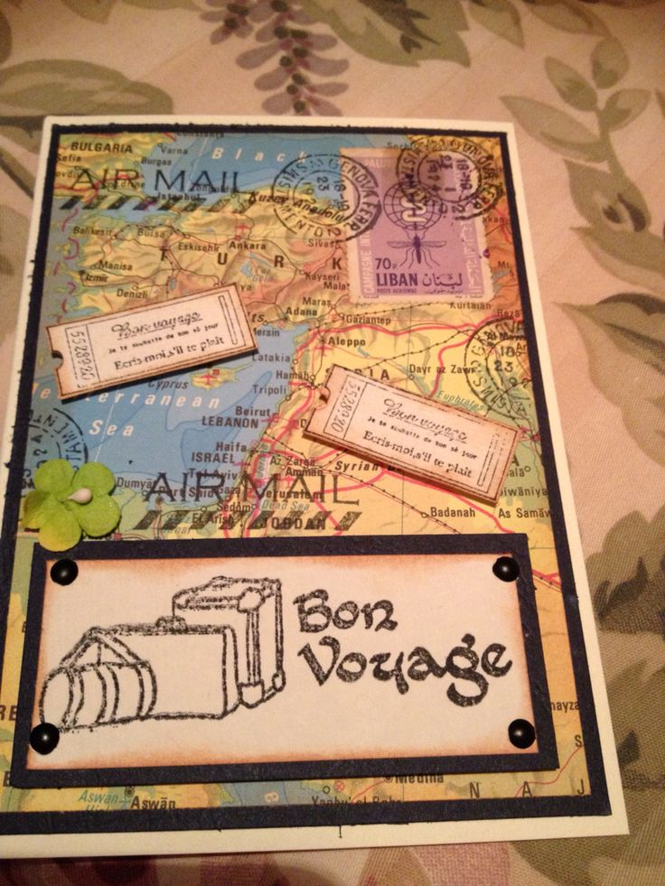 Bon voyage card for friend heading to Europe