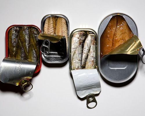 sardines, my go to snack.
