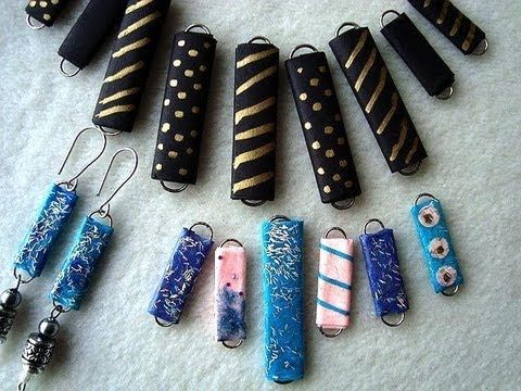 PAPER BEADS from paper clips, how to diy jewelry making, recycling. looks easier /safer for kids to help with