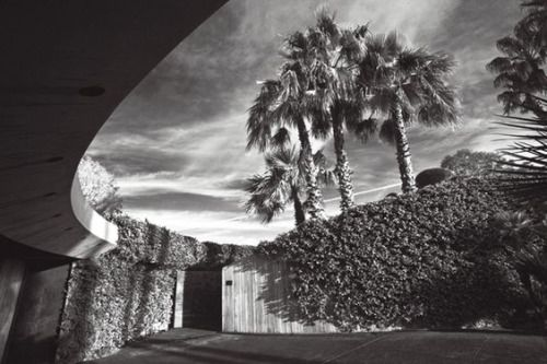 """architectureandfilmblog: """" Elrod House, John Lautner, 1968 DIAMONDS ARE FOREVER (1971) Reminiscent of a early-Bond Ken Adam set, this building provides the venue for some acrobatic vengeance from scantily clad villains Bambi and Thumper. """""""