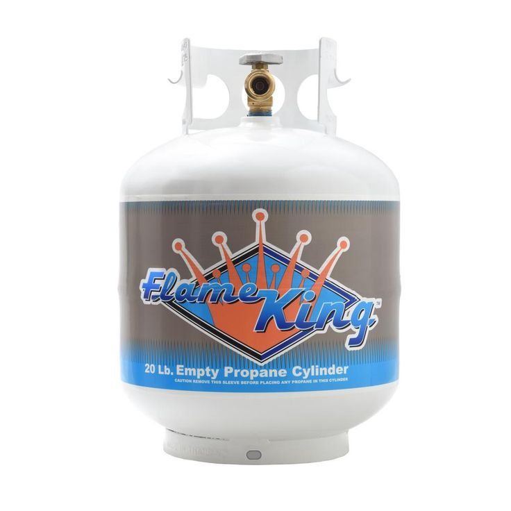 Flame king empty propane cylinder with overflow protection