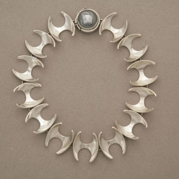 Gallery 925 - Georg Jensen Modern Necklace by Henning Koppel no. 130B , Handmade Sterling Silver