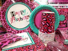 Pink Cheetah Print Party Supplies | Cheetah Print Girls Birthday Party Supplies Choose Item You Need