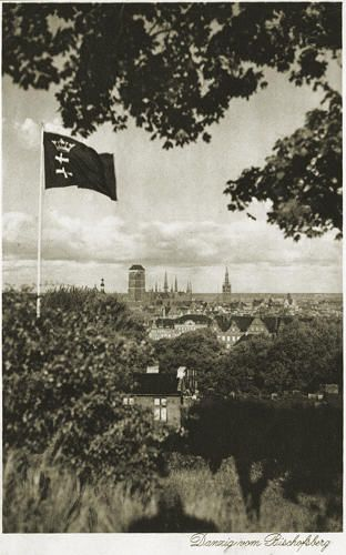 View of Gdansk from Bishop Hill (Danzig von Bischofsberg).