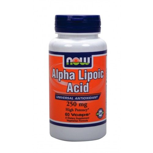 NOW Alpha Lipoic Acid 250mg 60vcaps | Familypharmacy.gr
