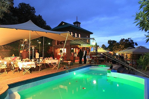 Boardwalk Lodge Pool at Night. Quote & Book: http://www.south-african-hotels.com/