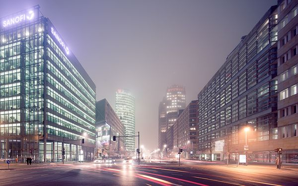 Berlin cityscapes by Jens Fersterra, via Behance