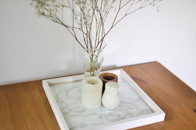 DIY: Marmor-Tischtablett | amazed