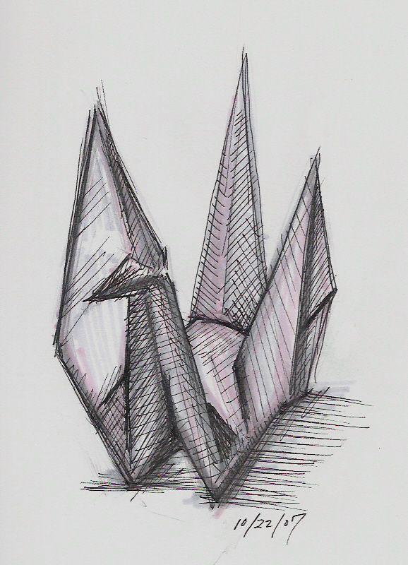 origami crane drawing wwwimgkidcom the image kid has it