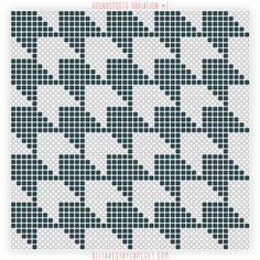 Houndstooth Variation #1 - Free Tapestry Crochet Pattern from AllTapestryCrochet.com