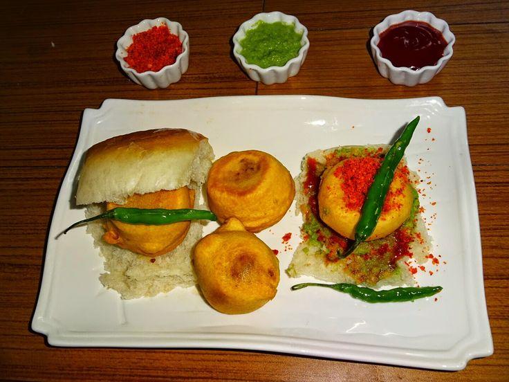 Veg Indian Good Food Recipes..: #BatataVada #Pav #Recipe (Deep Fried Potato Dumplings with small loaf of Bread)