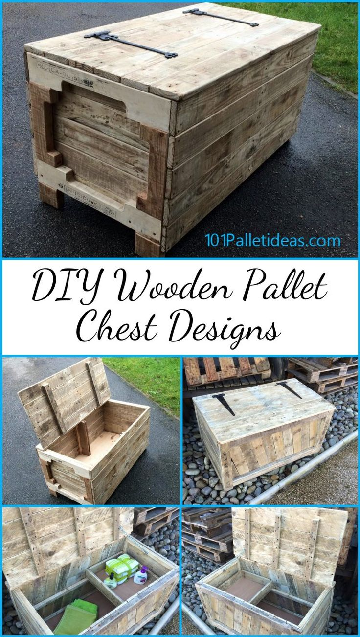 DIY Wooden Pallet Chest Designs | 101 Pallet Ideas - Pallet #chests are the best projects to get your hands dirty with as they are capable of a huge storage and being made up from the free #pallets .