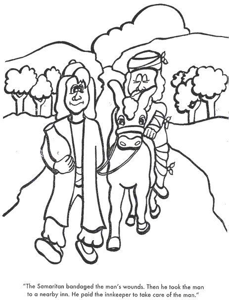 The Good Samaritan Again The Good Samaritan Samaritan Coloring Pages