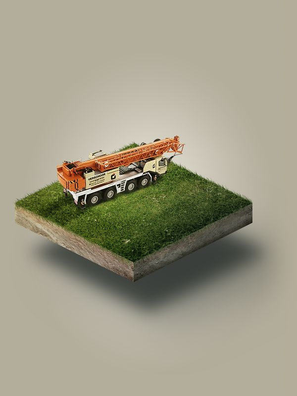 Construction machines by Artem Shykov, via Behance