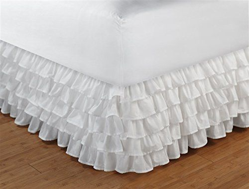 Greenland Home Fashions Multi-Ruffle Bed Skirt -