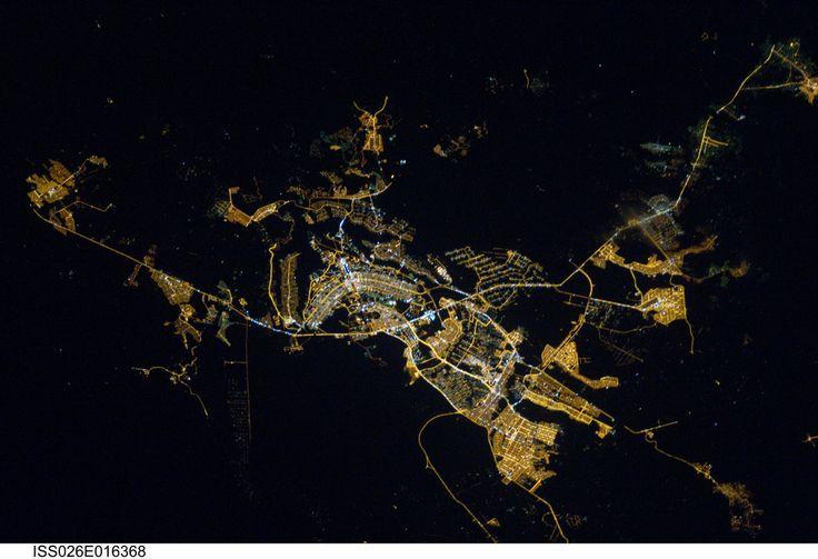 Brasilia, Brazil at Night (NASA, International Space Station, 01/08/11)