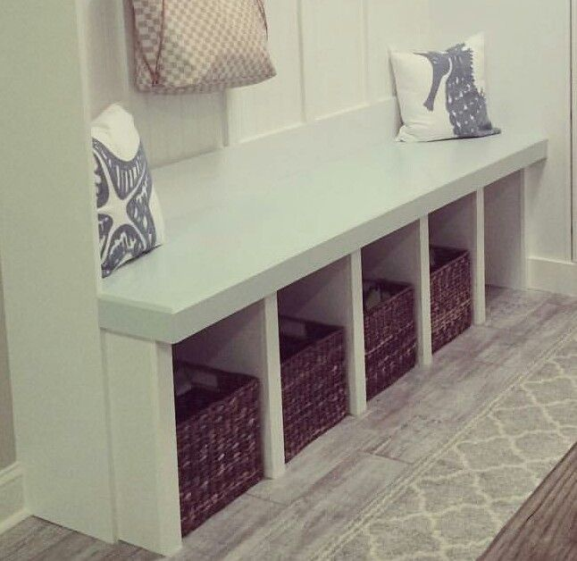 Concept 3 - reusing shelves and turning it into a table/storage space and seating all in one.