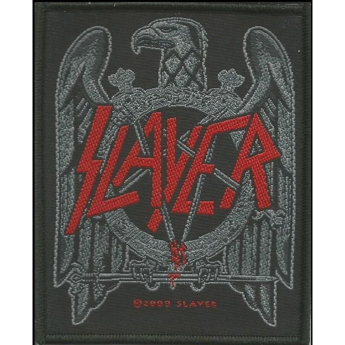 Slayer black eagle woven patch sew on official band merch listing in the otherbadges