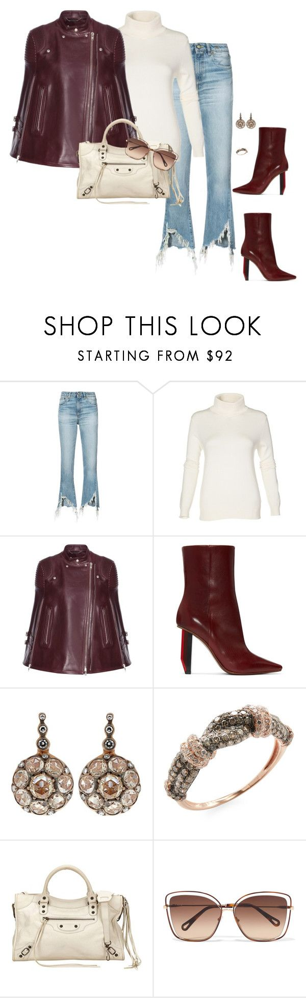 """""""Miller"""" by ccoss on Polyvore featuring R13, Givenchy, Vetements, Selim Mouzannar, Effy Jewelry, Balenciaga and Chloé"""