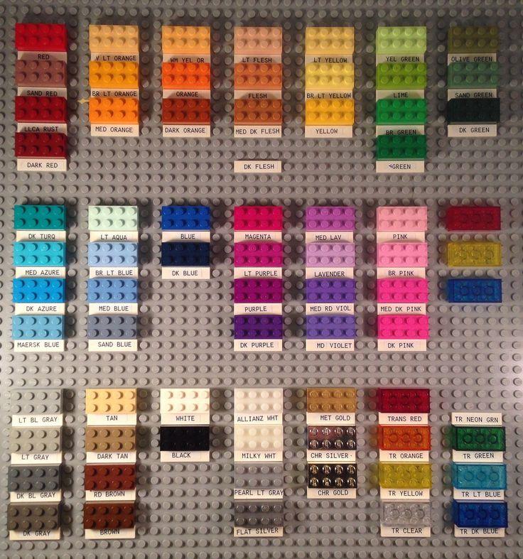 3001 Colors Lego Lego Creations Lego Room Lego Beach