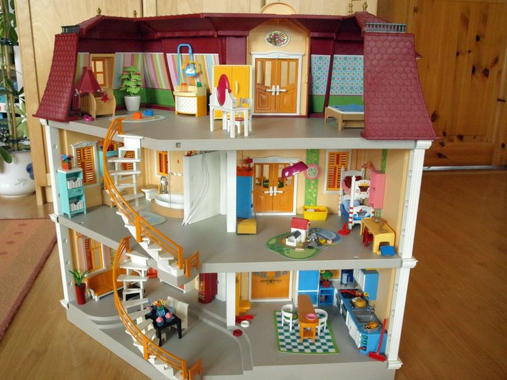 Playmobil mein großes Puppenhaus 5302+viel Zubehör und viele Zimmer | eBay