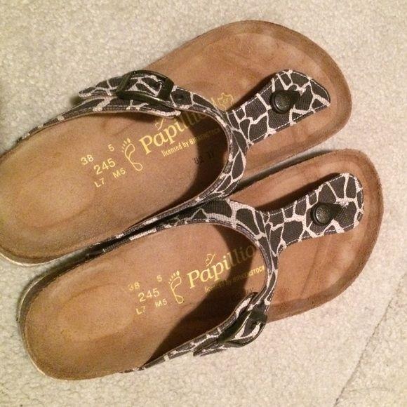 Giraffe print Papillio Birkenstock sandals NWOT. Only tried on. Birkenstock Shoes Sandals