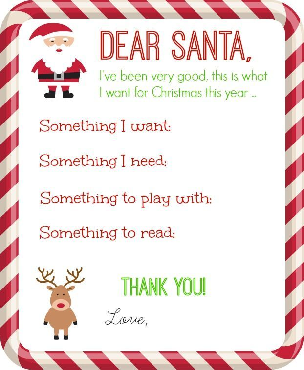 A Letter To Santa Template: 80 Best Images About Free Printables On Pinterest