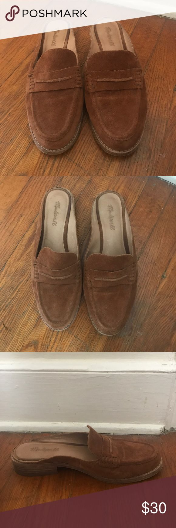 Madewell Suede Loafer Miles 👞 Brown Suede Loafer Miles from Madewell. Decently worn but outside appearance looks basically perfect. The sole is stinking at the toes inside just a tad, I tried to show it pictured. Price is pretty firm but a reasonable offer will be considered! Madewell Shoes Mules & Clogs