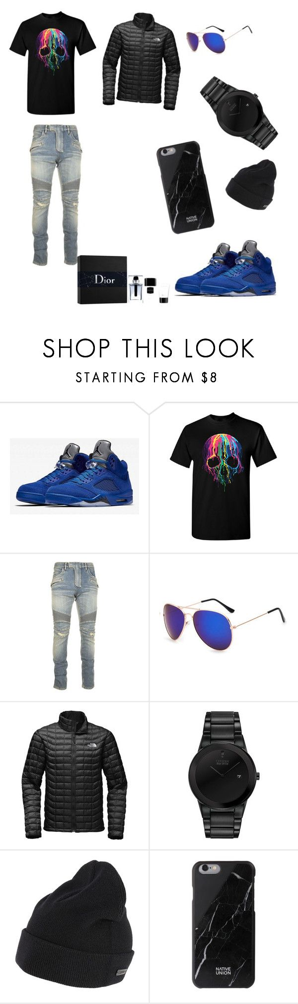 """""""these shoes😘"""" by lolaloveless on Polyvore featuring Balmain, The North Face, Citizen, Z Zegna, Native Union, Christian Dior, men's fashion and menswear"""