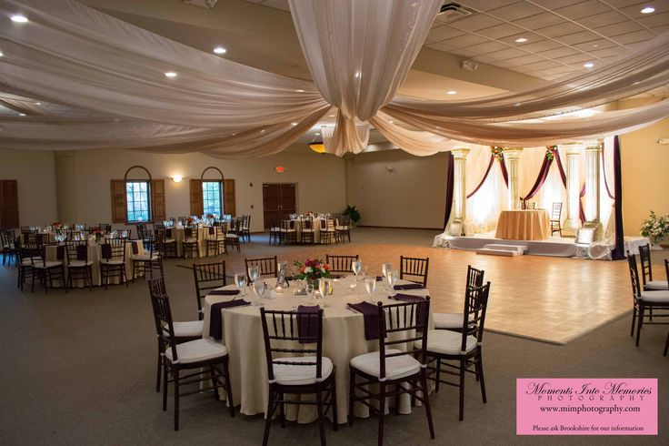 Columbus Ohio Wedding Reception Venues | Brookshire Facility Gallery. An easy room flip from #ceremony to #reception. #brookshireweddings